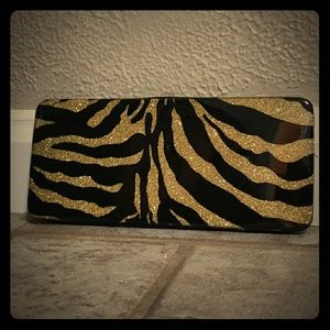 Gold & Black Zebra Stripe Clutch